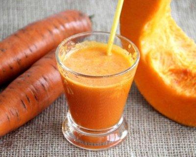 Гарбузово морквяний сік в домашніх умовах