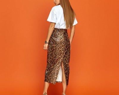 Кожаная юбка - стильные образы не выходящие из моды